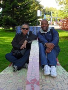 Robyn und Lungelo im Westfalenpark, Dortmund